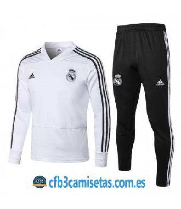 CFB3-Camisetas Chándal Real Madrid 2018 2019