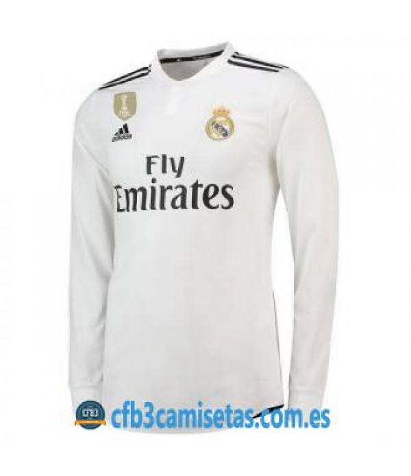 CFB3-Camisetas Real Madrid 1a Equipación 2018 2019 ML