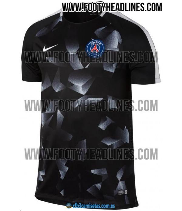 CFB3-Camisetas Camiseta PSG Pre Partido 2018 UCL