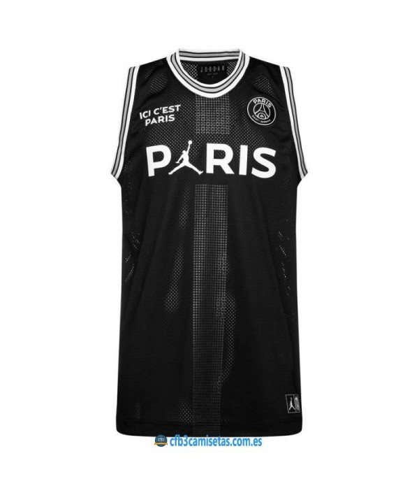 CFB3-Camisetas Jordan x PSG Flight Black