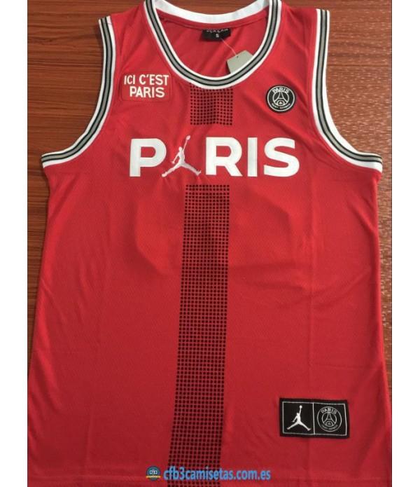 CFB3-Camisetas Jordan x PSG Flight Red