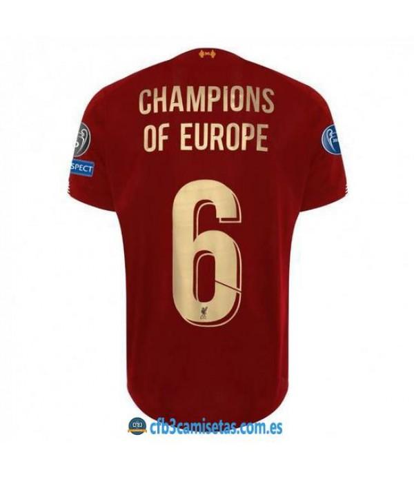 CFB3-Camisetas Liverpool 1a Equipación 2019 2020 Champions of Europe