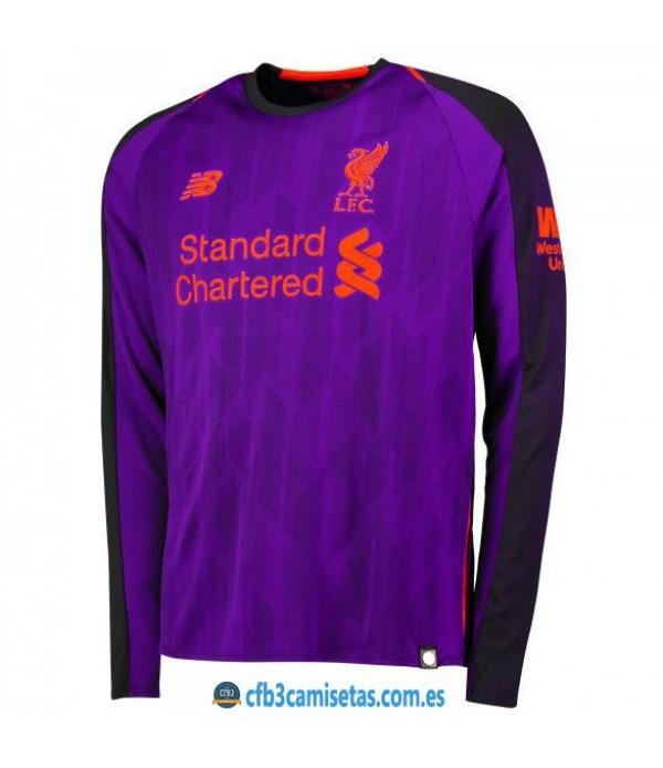 CFB3-Camisetas Liverpool 2ª Equipación 2018 2019 ML