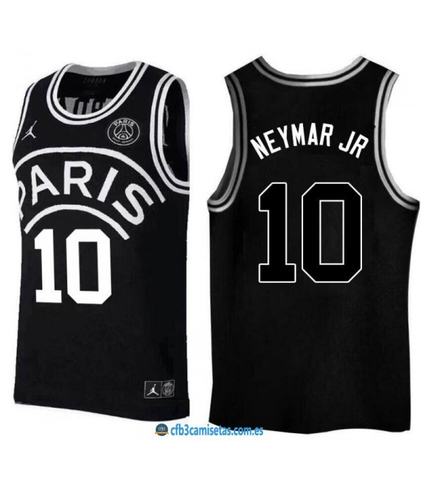 CFB3-Camisetas Neymar Jr 10 Jordan x PSG Flight Black