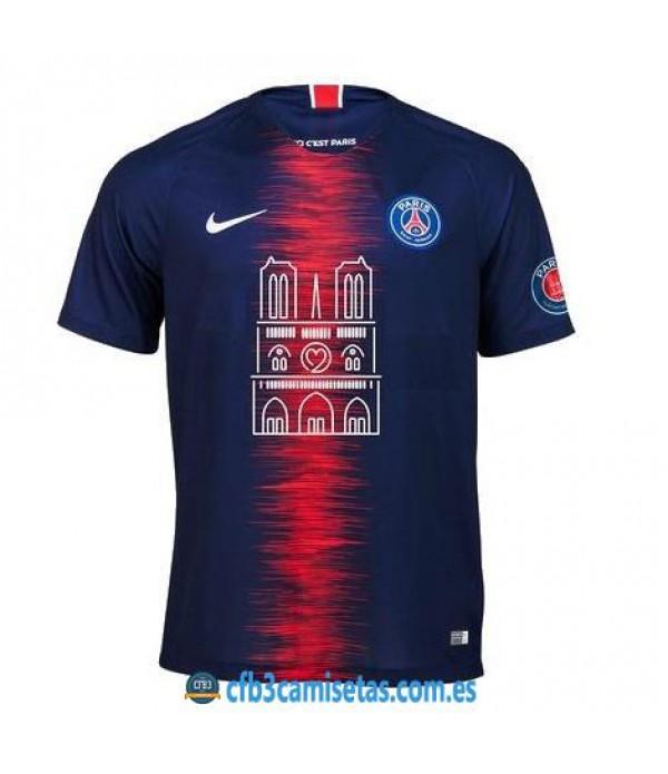 CFB3-Camisetas PSG 1a Equipación 2018 2019 Notre Dame