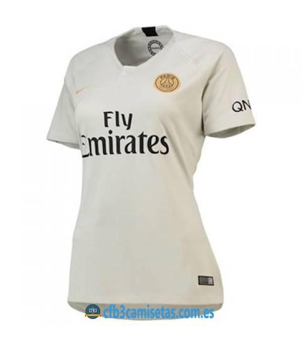 CFB3-Camisetas PSG 2a Equipación 2018 2019 MUJER