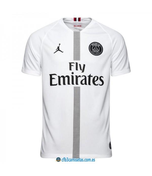 CFB3-Camisetas PSG x Jordan 3a Blanca 2018 2019
