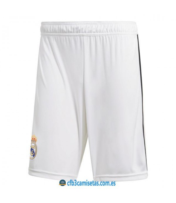 CFB3-Camisetas Pantalones 1a Real Madrid 2018 2019