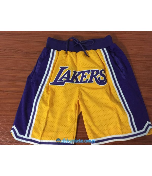 CFB3-Camisetas Pantalones LA Lakers JUST DON
