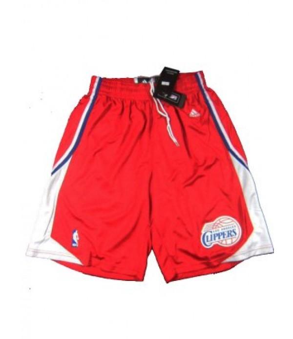 CFB3-Camisetas Pantalones Los Angeles Clippers Roj...
