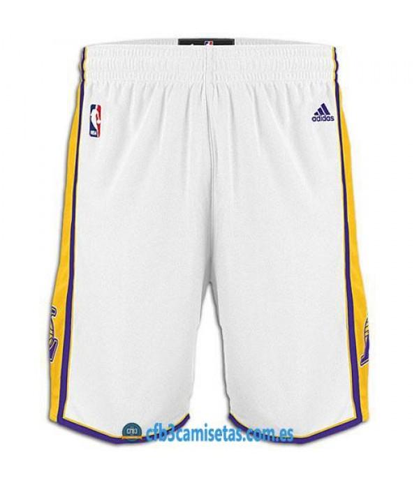 CFB3-Camisetas Pantalones Los Angeles Lakers Blanco