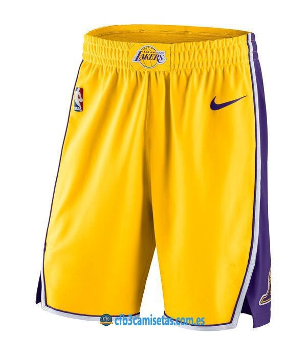 CFB3-Camisetas Pantalones Los Angeles Lakers Icon
