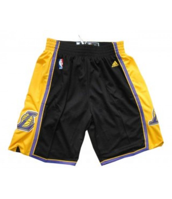 CFB3-Camisetas Pantalones Los Angeles Lakers Negro