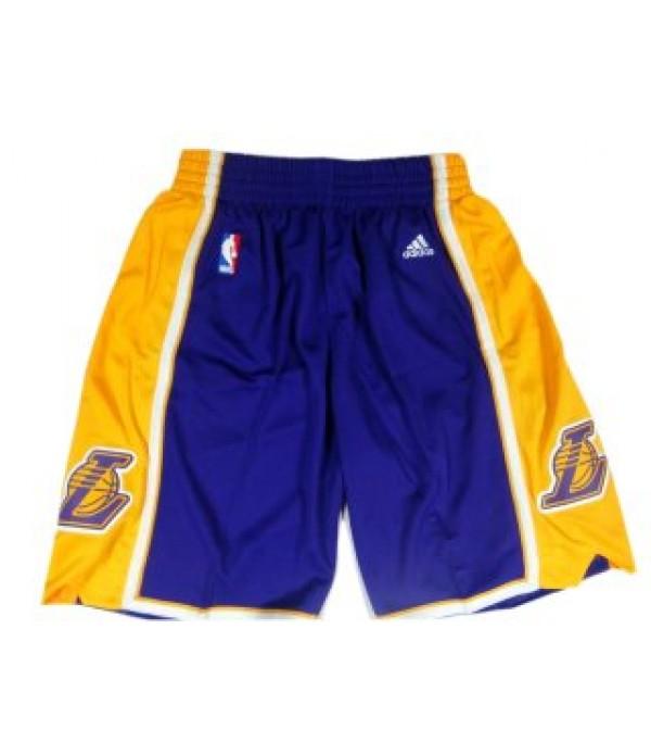 CFB3-Camisetas Pantalones Los Angeles Lakers Púrp...