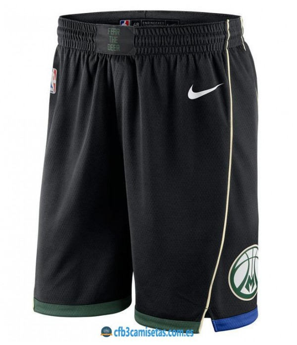 CFB3-Camisetas Pantalones Milwaukee Bucks Statemen...