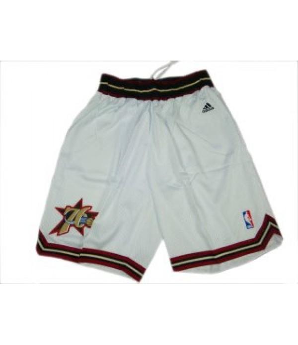 CFB3-Camisetas Pantalones Philadelphia 76ERS Blanc...