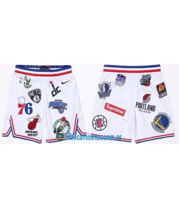 CFB3-Camisetas Pantalones Supreme x Nike x NBA Bla...