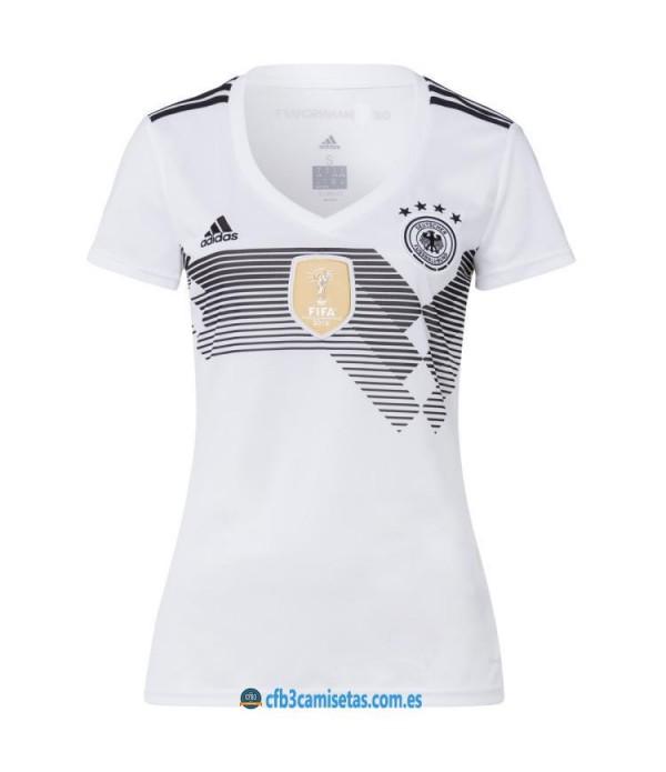 CFB3-Camisetas Alemania 1ª Equipación 2018 MUJER