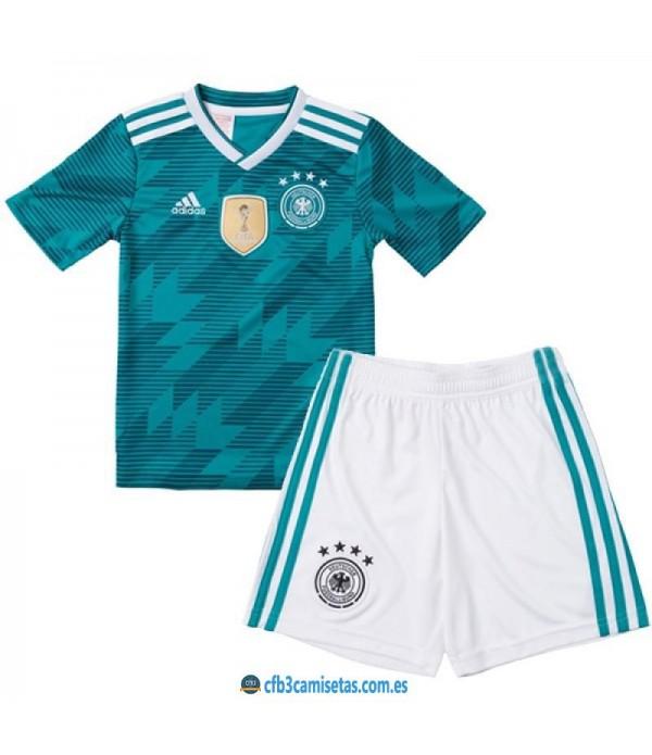 CFB3-Camisetas Alemania 2ª equipacion Mundial 2018 NIÑOS