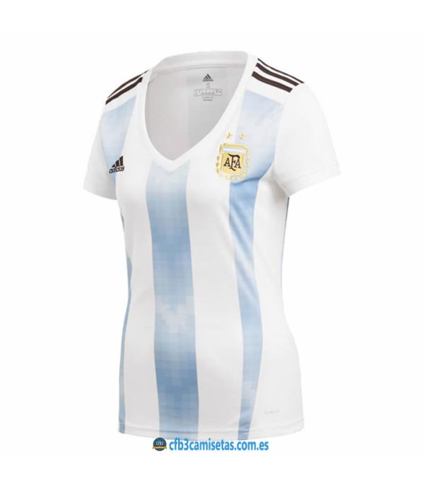 CFB3-Camisetas Argentina 1ª Equipación 2018 MUJER