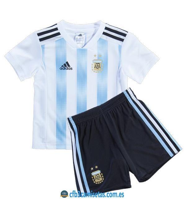 CFB3-Camisetas Argentina 1ª equipacion Mundial 2018 NIÑOS