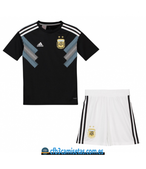 CFB3-Camisetas Argentina 2ª equipacion Mundial 2018 NIÑOS