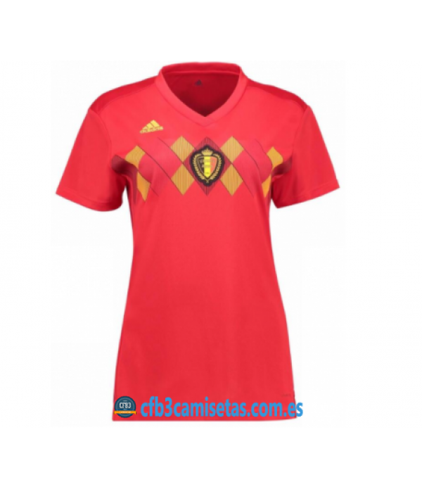 CFB3-Camisetas Bélgica 1ª Equipación 2018 MUJER