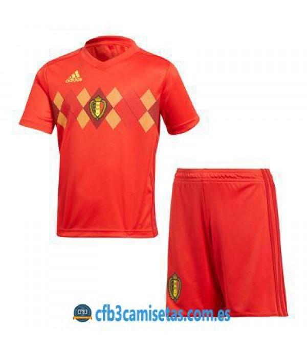 CFB3-Camisetas Bélgica 1ª Equipación 2018 NIÑOS