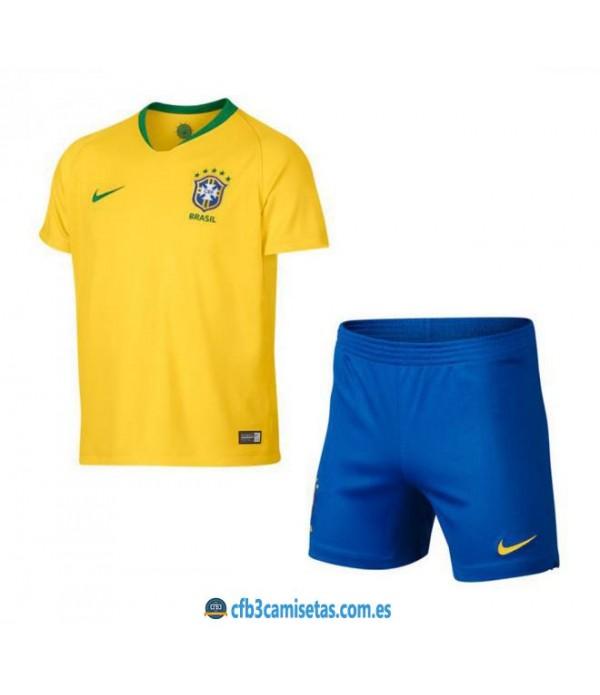 CFB3-Camisetas Brasil 1a Equipación 2018 NIÑOS