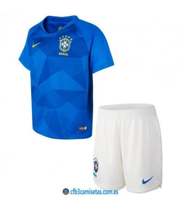 CFB3-Camisetas Brasil 2a Equipación 2018 NIÑOS