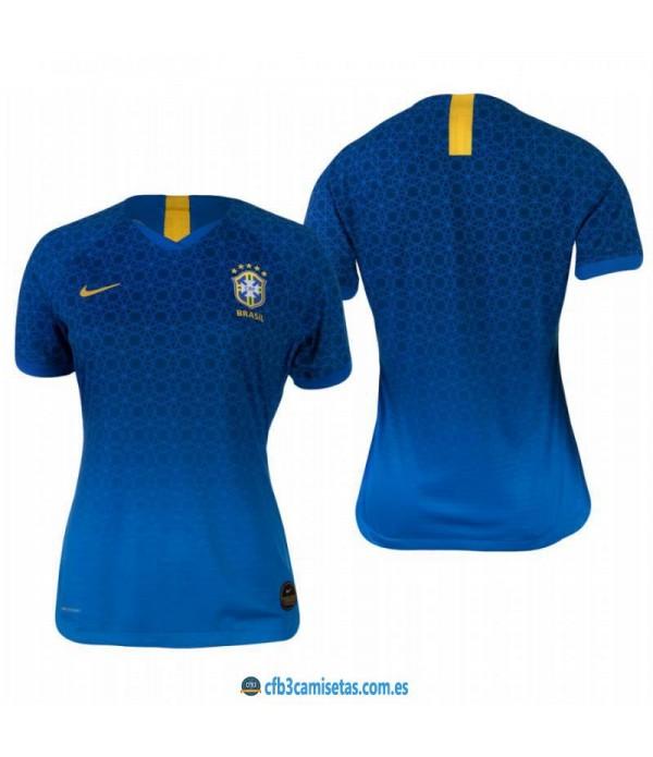 CFB3-Camisetas Brasil 2a Equipación 2019 MUJER