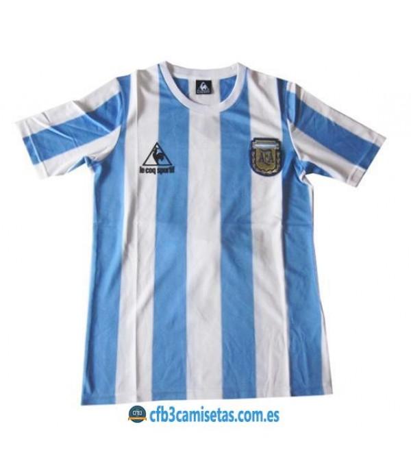 CFB3-Camisetas Camiseta Argentina Retro Mundial 1986