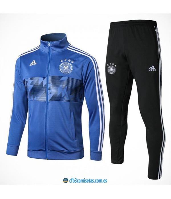CFB3-Camisetas Chándal Alemania 2018 Azul