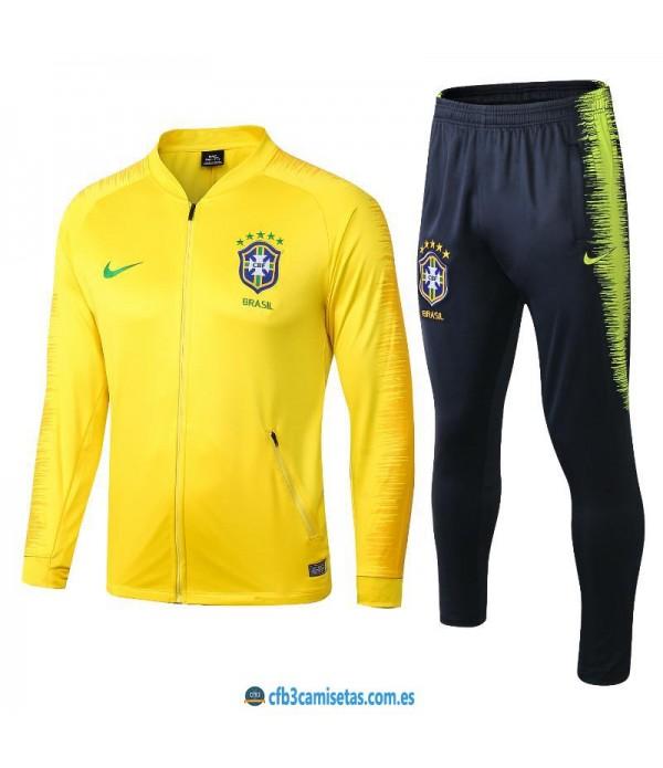 CFB3-Camisetas Chándal Brasil 2018