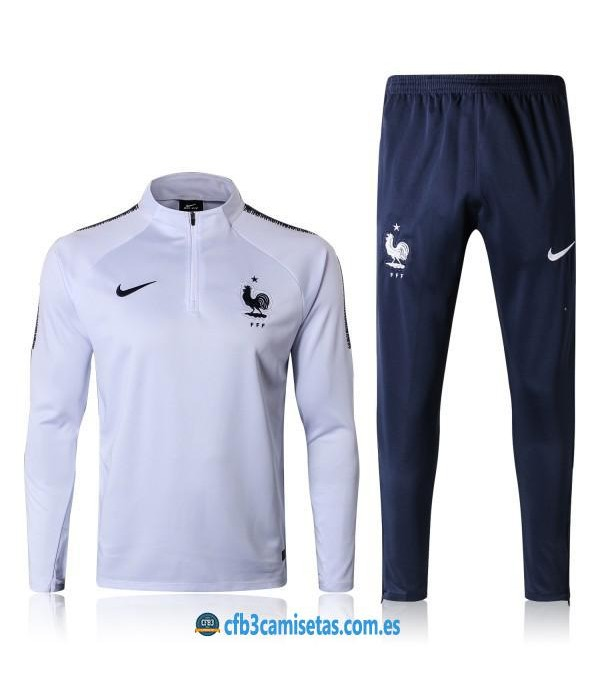 CFB3-Camisetas Chándal Francia 2018