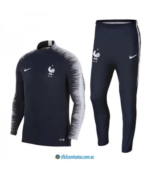 CFB3-Camisetas Chándal Francia 2018 Negro