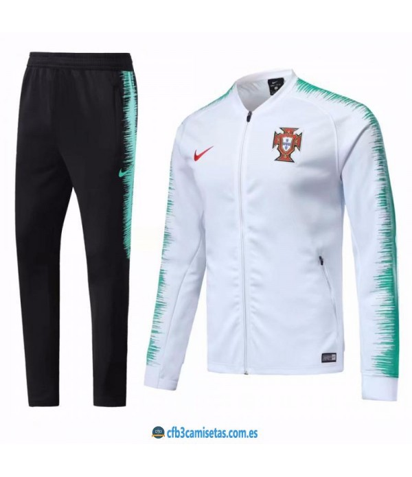 CFB3-Camisetas Chándal Portugal 2018 Blanco