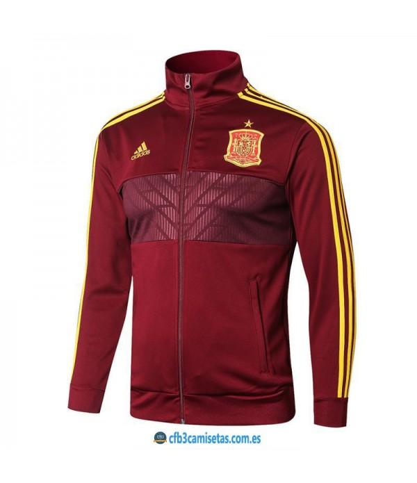 CFB3-Camisetas Chaqueta España 2018 Roja