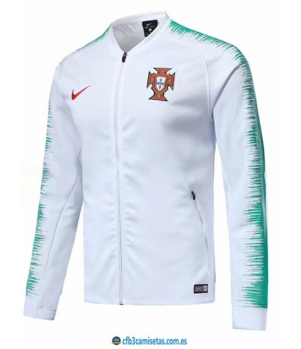 CFB3-Camisetas Chaqueta Portugal 2018 Blanca