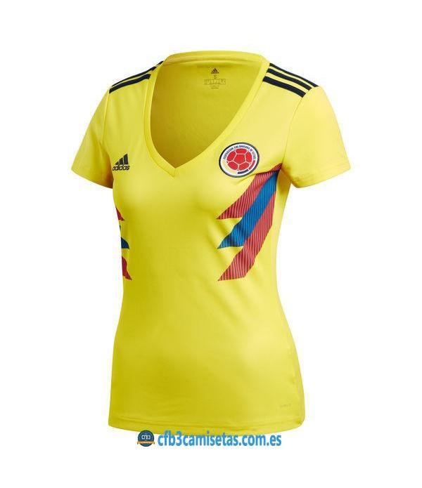 CFB3-Camisetas Colombia 1ª Equipación 2018 MUJER