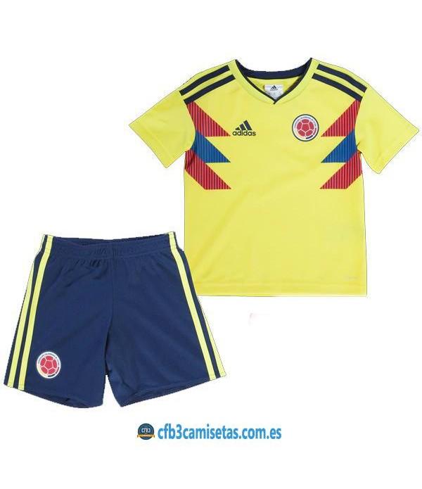 CFB3-Camisetas Colombia 1ª equipacion Mundial 2018 NIÑOS