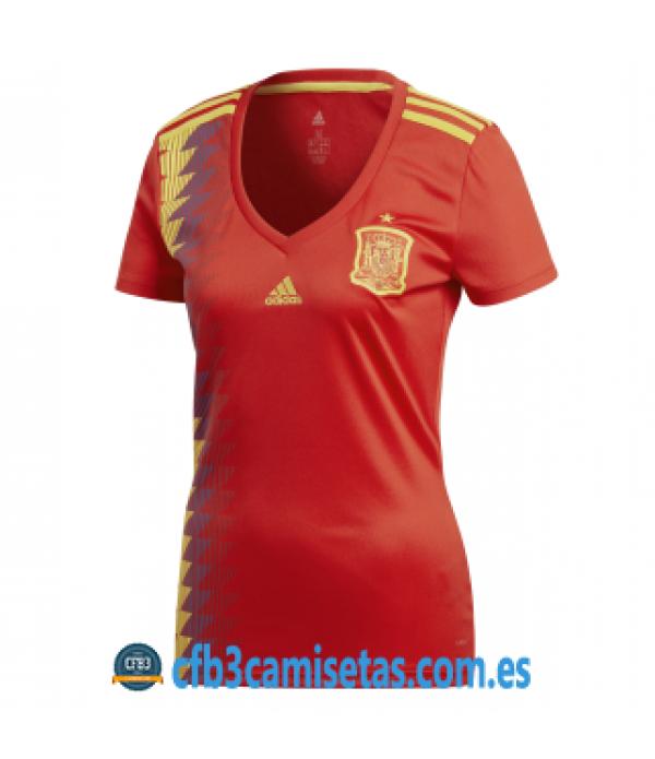 CFB3-Camisetas España 1ª Equipación 2018 MUJER