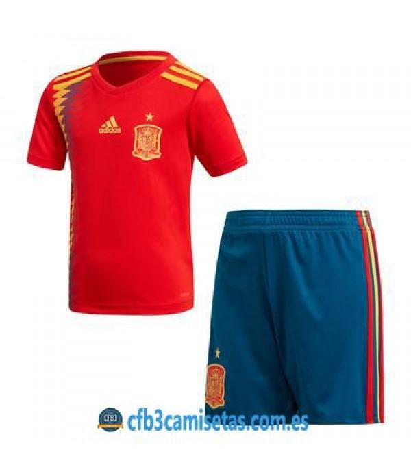 CFB3-Camisetas España 1ª equipacion Mundial 2018 NIÑOS