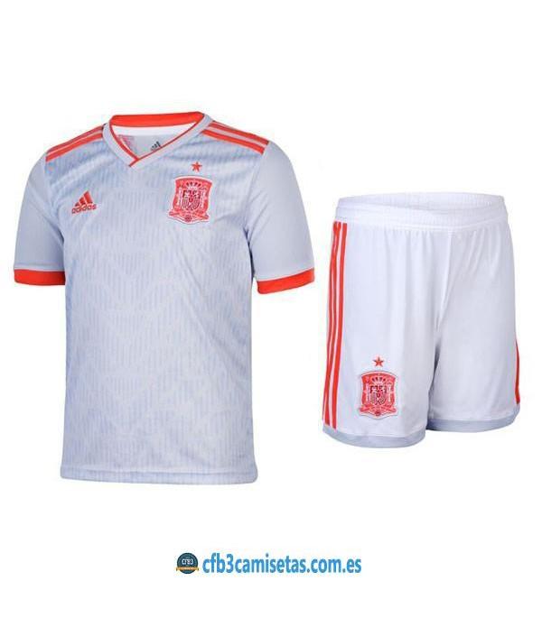 CFB3-Camisetas España 2ª equipacion Mundial 2018 NIÑOS