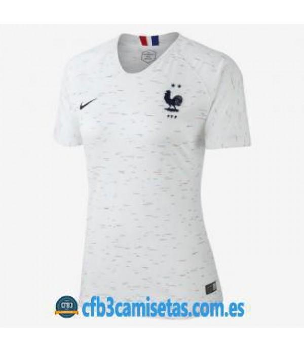 CFB3-Camisetas Francia 2ª Equipación 2018 MUJER