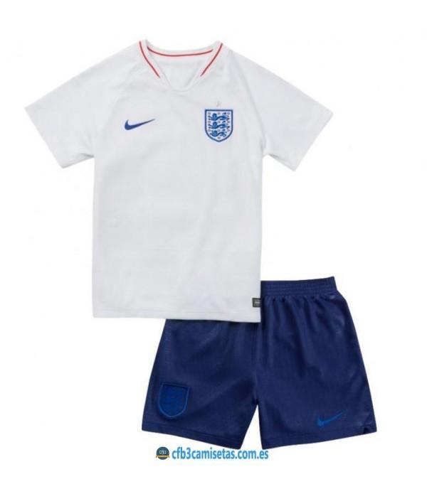 CFB3-Camisetas Inglaterra 1ª equipacion Mundial 2018 NIÑOS