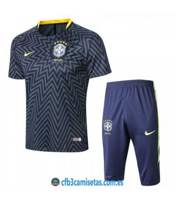 CFB3-Camisetas Kit Entrenamiento Brasil 2018 Estre...