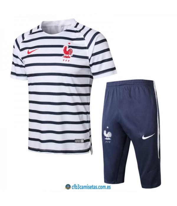 CFB3-Camisetas Kit Entrenamiento Francia 2018 Raya...