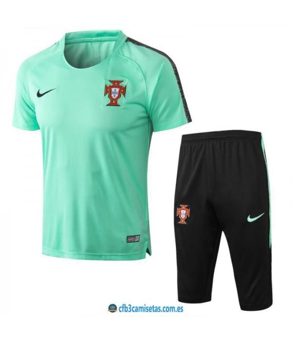 CFB3-Camisetas Kit Entrenamiento Portugal 2018 Ver...