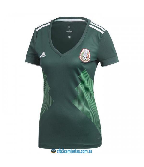 CFB3-Camisetas Mexico 1a Equipacion 2018 MUJER